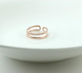 은반지 심플한 두줄 큐빅 실버반지 실버패션반지 silver ring