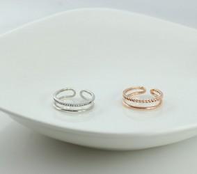 은반지 심플한 두줄 실버반지 실버패션반지 silver ring