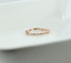 14k반지 [D-A1517]14K 큐빅 레이어드 데일리 반지