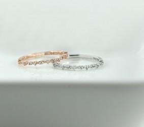 14k반지 [C-556]  큐빅 데일리 레이어드링 반지