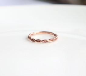 큐빅 꽈베기 반지